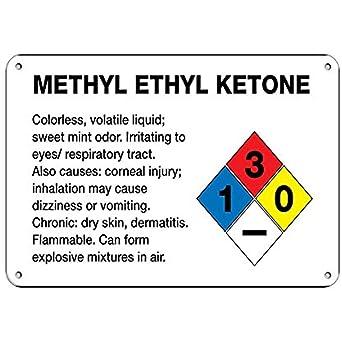 Methyl Ethyl Ketone Irritating to Eyes/Respiratory Tract Aluminum