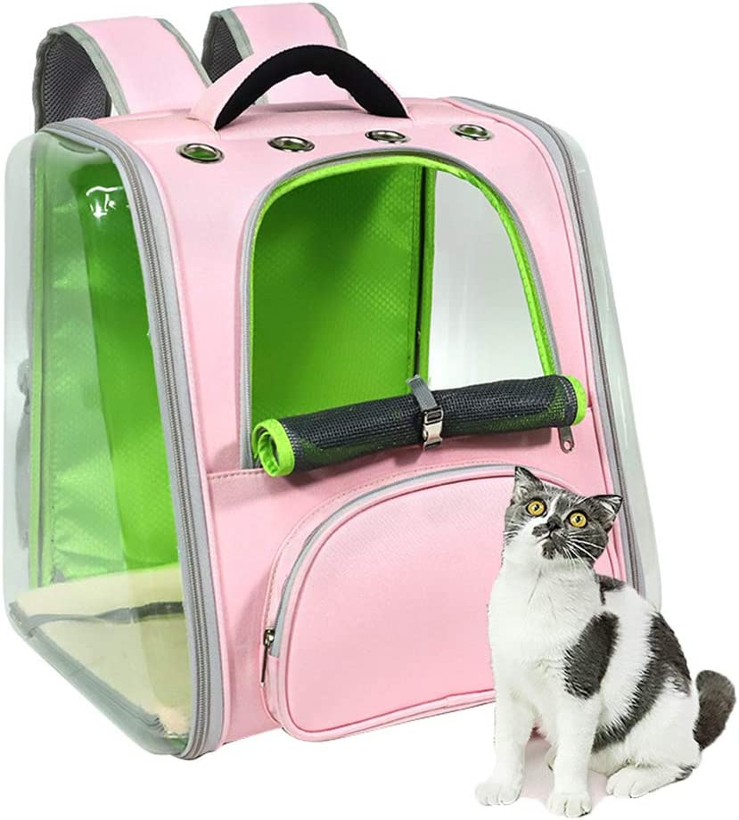 DYYTR Portador del Gato, Perro Mochila, De Lados Suaves Malla Pup Pack para Mascotas Al Aire Libre del Morral Que Viaja para Petite Perros para Uso Al Aire Libre Que Va De