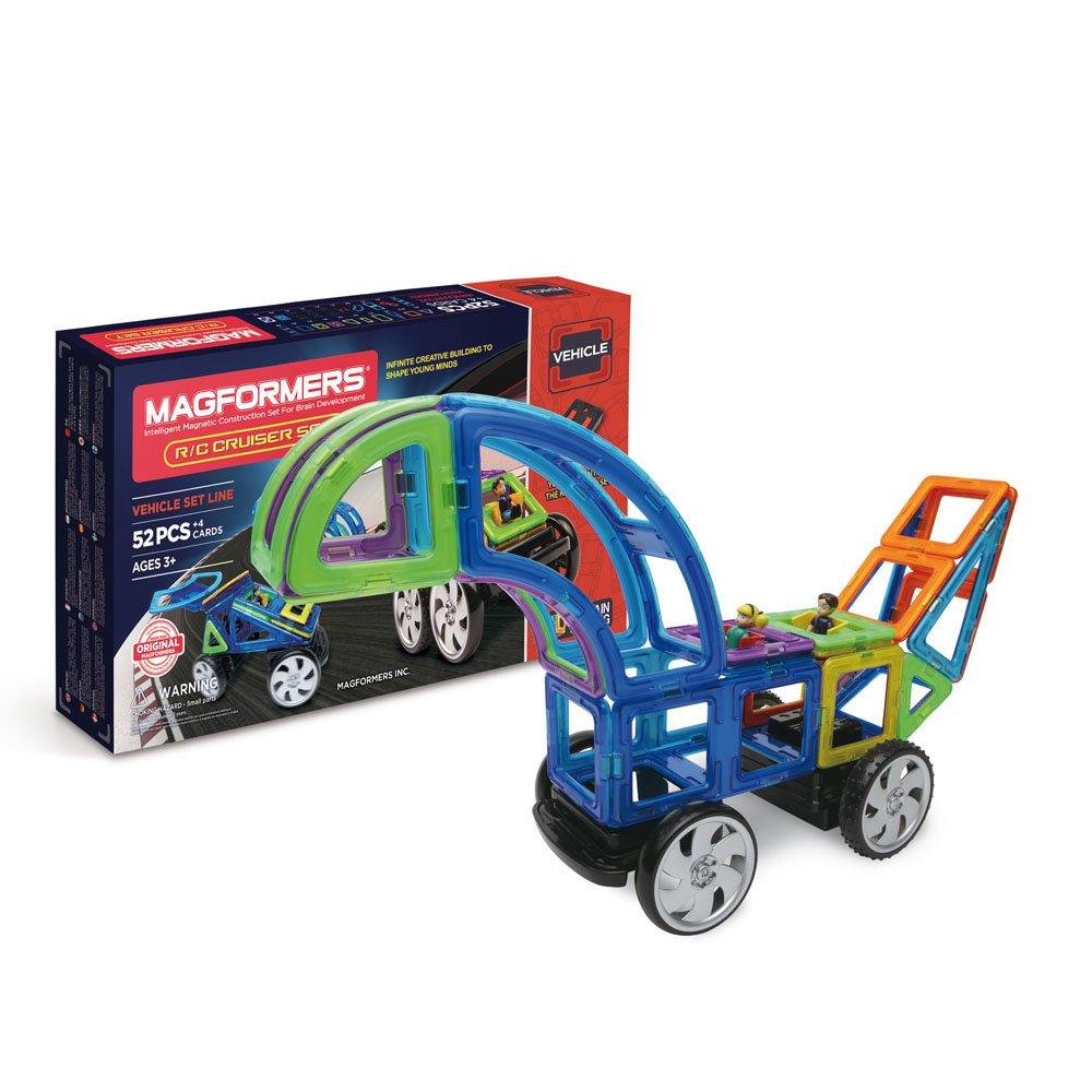 Unbekannt Magformers 005-63091 Konstruktionsspielzeug RC Custom Set, 52-teilig, Mehrfarbig