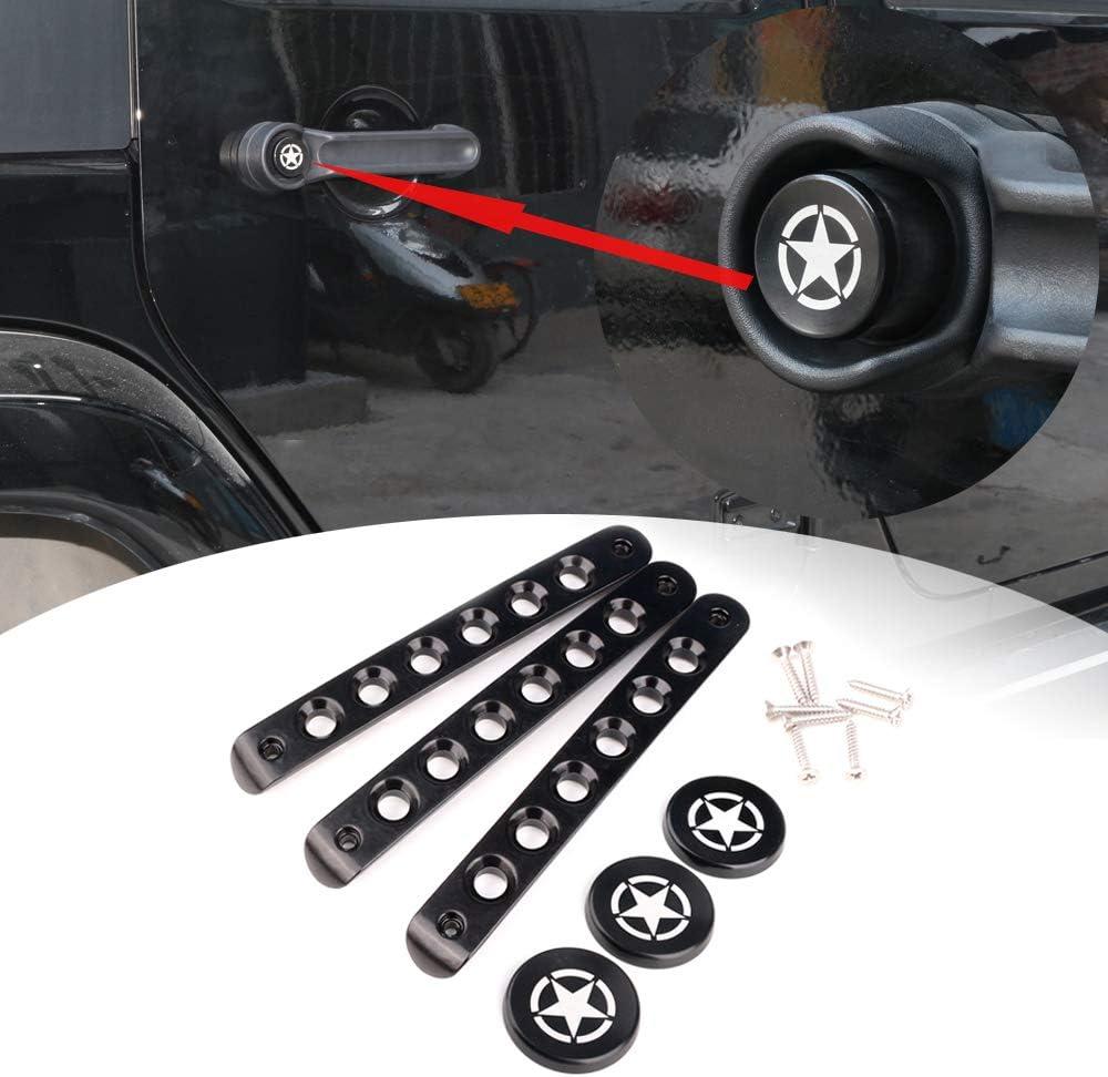 Jeep Wrangler JK 2007-2017 5x Door Grab Handle Tailgate Bar Trim Insert Cover