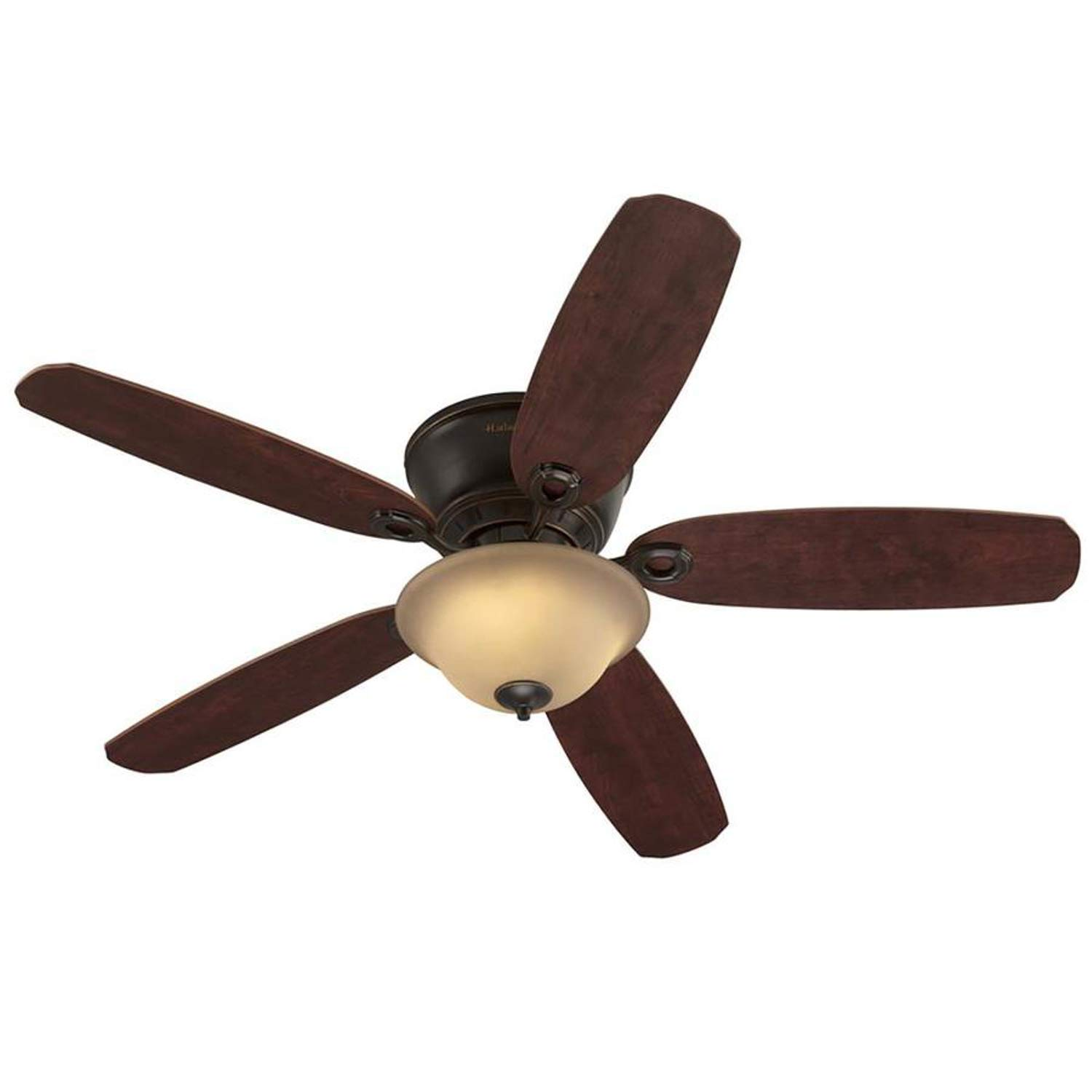 Harbor Breeze 40305 Pawtucket 52-in Oil Rubbed Bronze Indoor Flush Mount Ceiling Fan with Light Kit and Remote