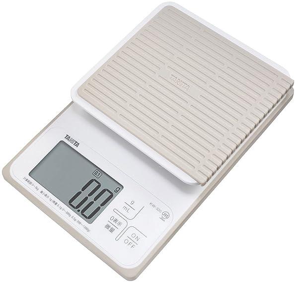 タニタ 洗えるデジタルクッキングスケール 3kg/0.1g ホワイト KW-320-WH パン作りにおすすめ