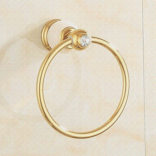 Znzbzt Copper Bathroom Towel Ring towel rack bathroom hardware attached to golden towel rack towel ring, and luxury white jade)