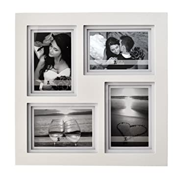 Amazoncom Umical 4x6 Picture Frame 4 Opening Collage White Wooden