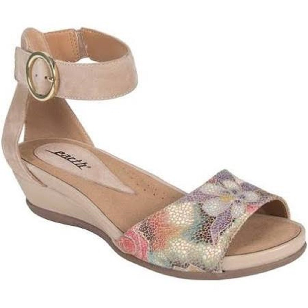 Earth Hera Women's Sandal 7.5 B(M) US Beige-Floral