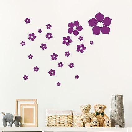 Amazoncom Ufengke Home Patterned Flowers Dark Purple 23 Piece