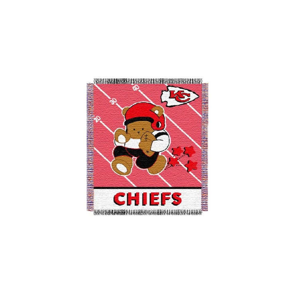 Kansas City Chiefs NFL Woven Jacquard Baby Throw Sports