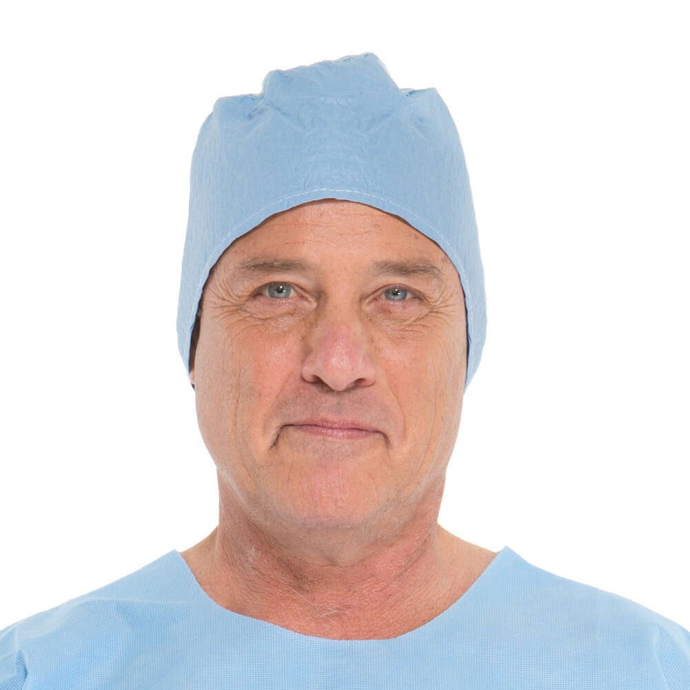 HALYARD Surgical Caps, Non-Sterile, Universal, Blue 69240 (Case of 300)
