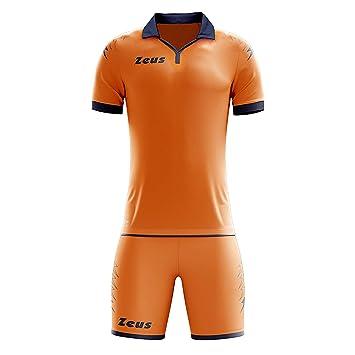 Zeus Kit de Scorpion fútbol hombre mujer T-Shirt pantalones cortos de fútbol Fútbol Five-A-Side naranja azul: Amazon.es: Deportes y aire libre