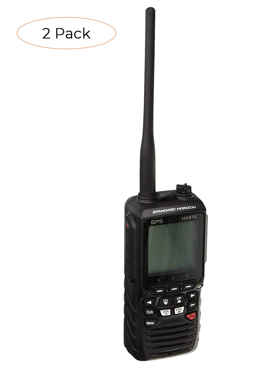 Standard Horizon HX870 Floating 6W Handheld VHF with Internal GPS (Twо Расk) by STANDARD HORIZON