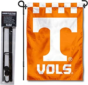 College Flags & Banners Co. Tennessee Volunteers Checkerboard Garden Flag with Stand Holder