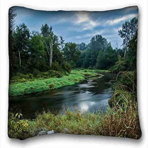 Custom Nature Custom Cotton & Polyester Soft Rectangle Pillow Case Cover 16x16 inches (One Side) suitable for King-bed