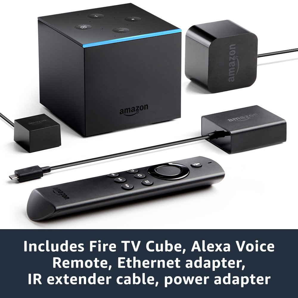 Fire TV Cube , Hands-Free With Alexa And 4K Ultra HD , Streaming Media Player