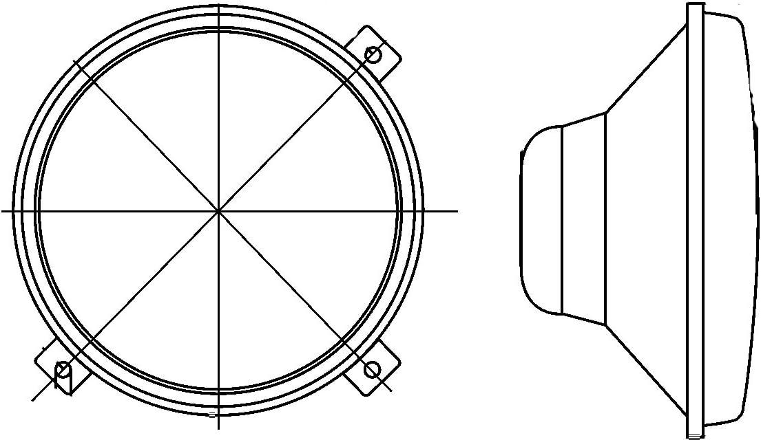 Montage encastr/é Halog/ène HELLA 1A3 996 002-201 Projecteur principal Endroit dassemblage: gauche//droite rond H4-12V//24V