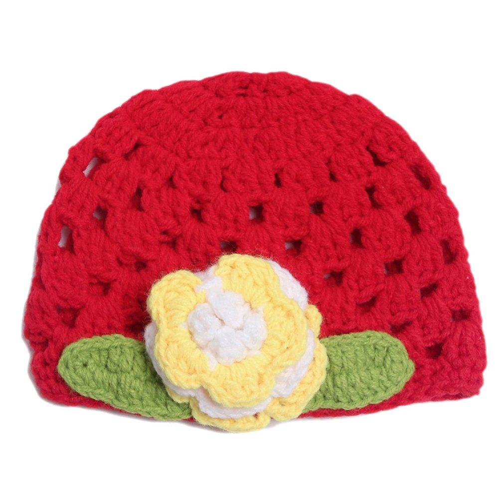 CHIC-CHIC Tricot Bébé Fille Garçon Photographie Chapeau Bonnet Fleur Prop Bandeau Serre-tête 05B0073