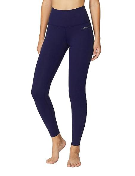 Baleaf Womenu0027s High Waist Yoga Pants Non See Through Fabric Dark Navy Size S