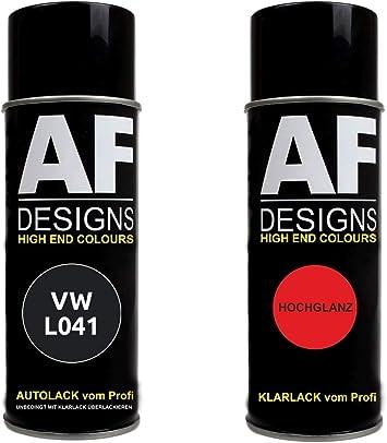 Alex Flittner Designs Autolack Spraydose Set Geeignet Für Vw Volkswagen Schwarz L041 Basislack Klarlack Sprühdose 400ml Auto
