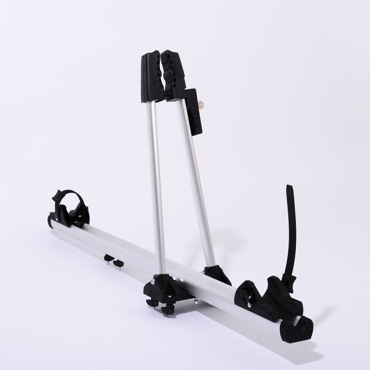 New Universial Bike Bicycle Rack Carrier Car Mount Roof Top Upright Aluminum w/ Lock