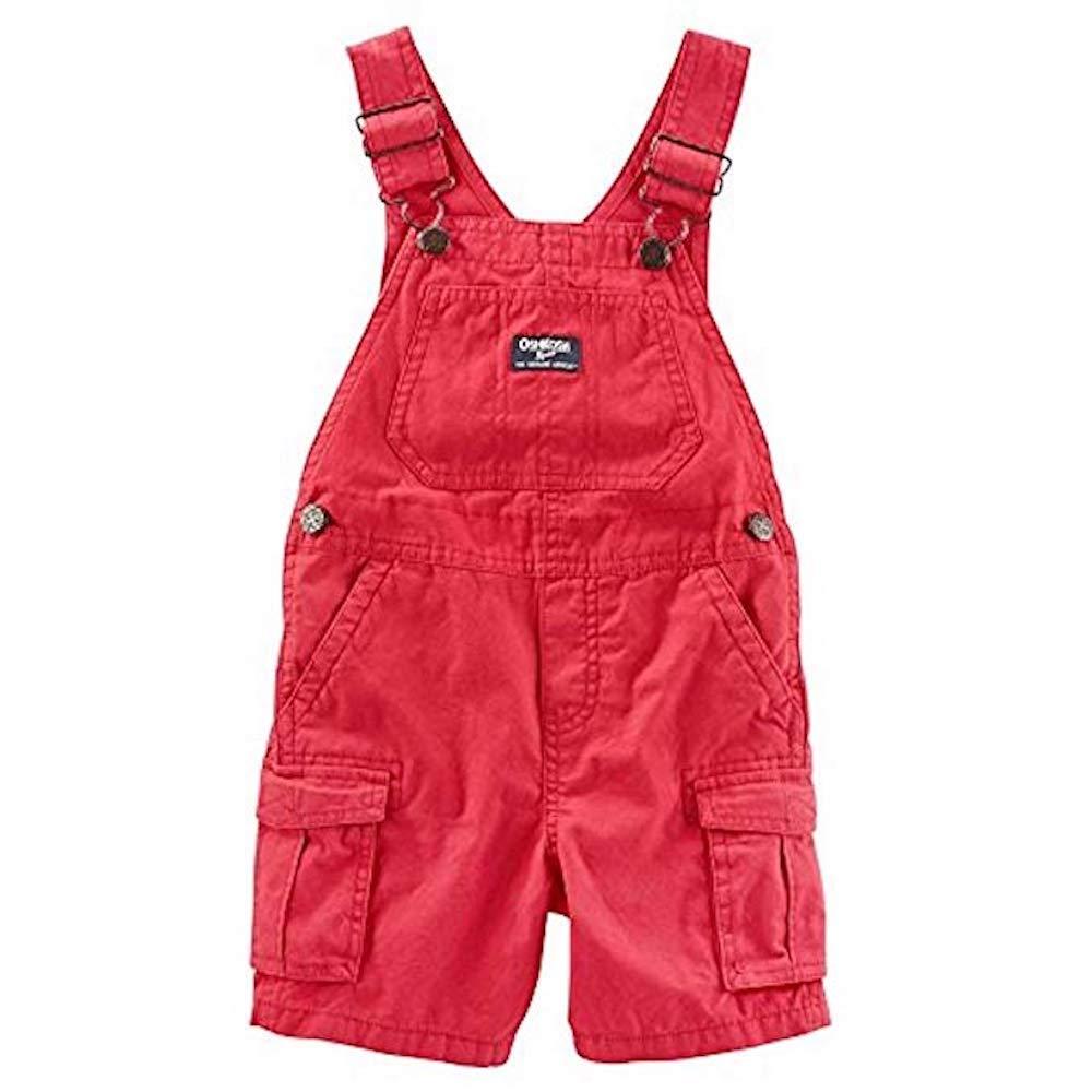 OshKosh B'Gosh Baby Boys' Cargo Shortalls, Red, 9-12 Months