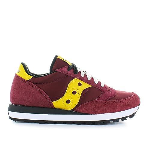 SAUCONY S2044-415 Original Jazz cordones rojos zapatos de las zapatillas de deporte hombre amarillo: Amazon.es: Zapatos y complementos