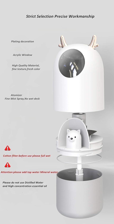 10 Heures Temps de Fonctionnement Essentielle pour Maison//Bureau//Chambre de B/éb/é,Pink LQ/&XL 300ML Humidificateur dair b/éb/é Humidificateur Ultrasonique Silencieux