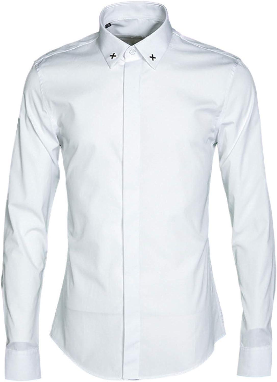 HOSD Camisa de Hombre de Moda de Camisa de Hombre Delgado de ...