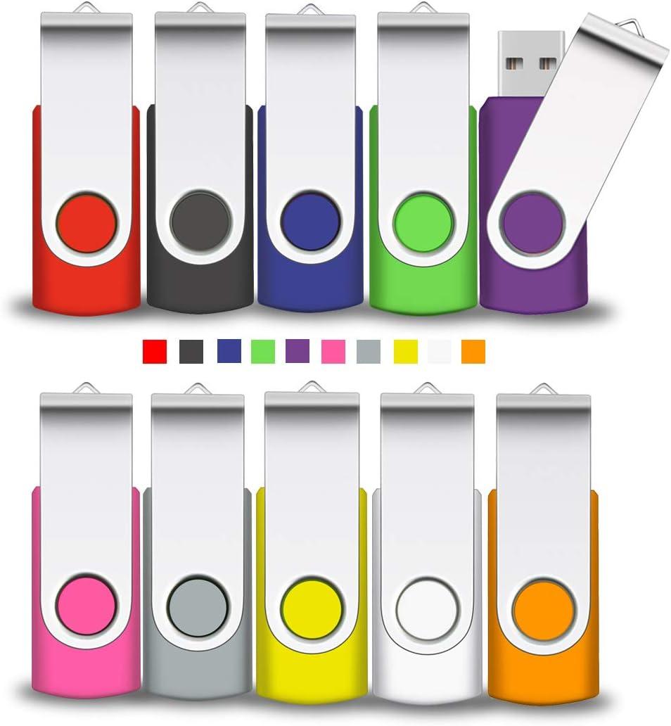 Lot de 10/Cl/é USB /à m/émoire Flash USB 2.0/cl/és USB 4 Go 10 Mixcolors
