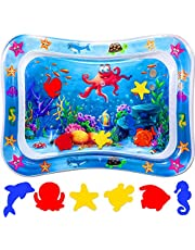 """ProAussie Tummy Time Baby Water Mat, Premium Inflatable Baby Play Mat Activity Centre for Infants Baby Toys 3 6 9 12 Months, Baby Gifts for Newborn Boys Girls - Promotes Sensory Development in Toddlers & Baby's Stimulation Growth (26""""x21"""")"""