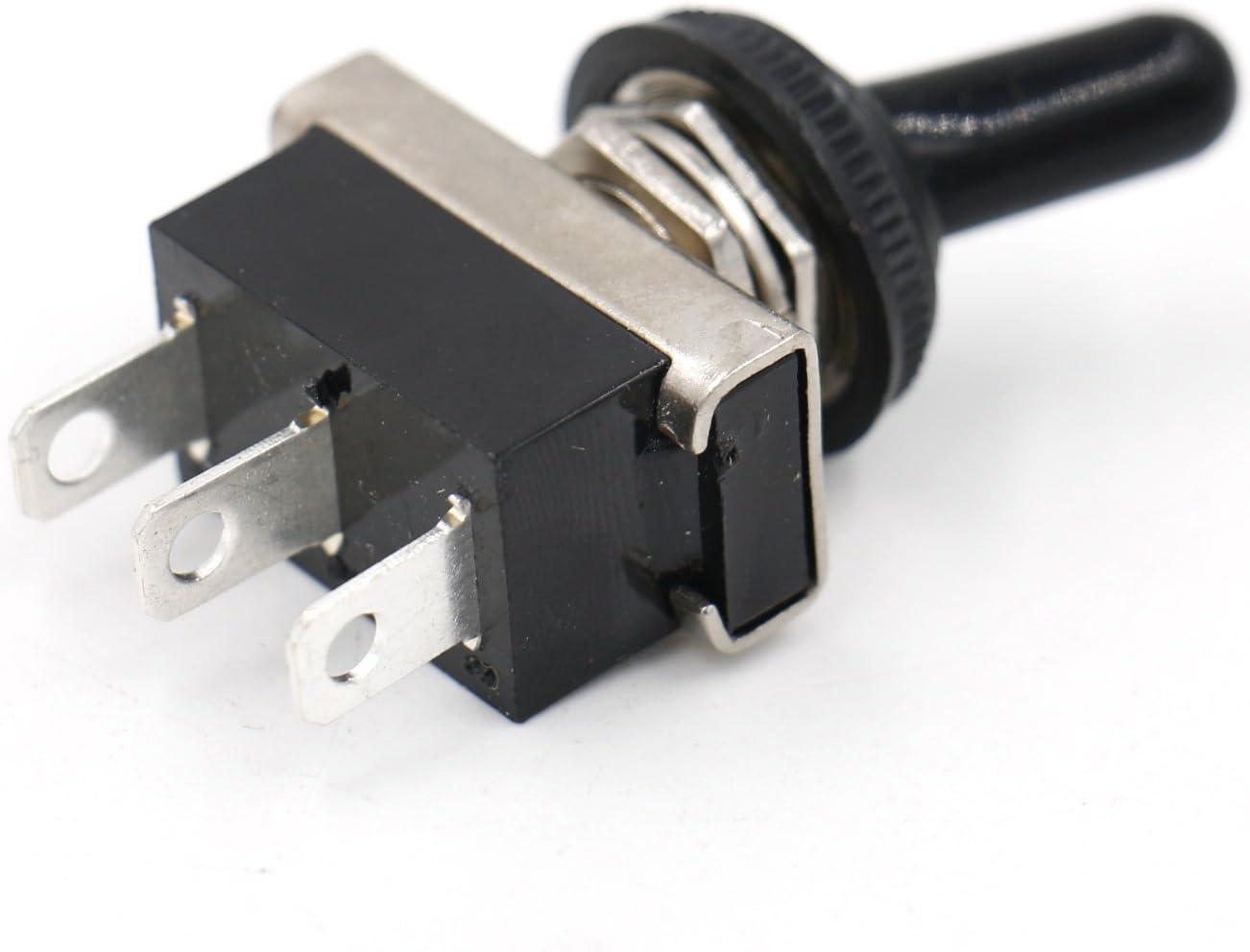 Heschen Interrupteur /à bascule m/étallique robuste flick flip 25A 12V SPDT ON//ON 2 position 3 broches pour voyant de voiture