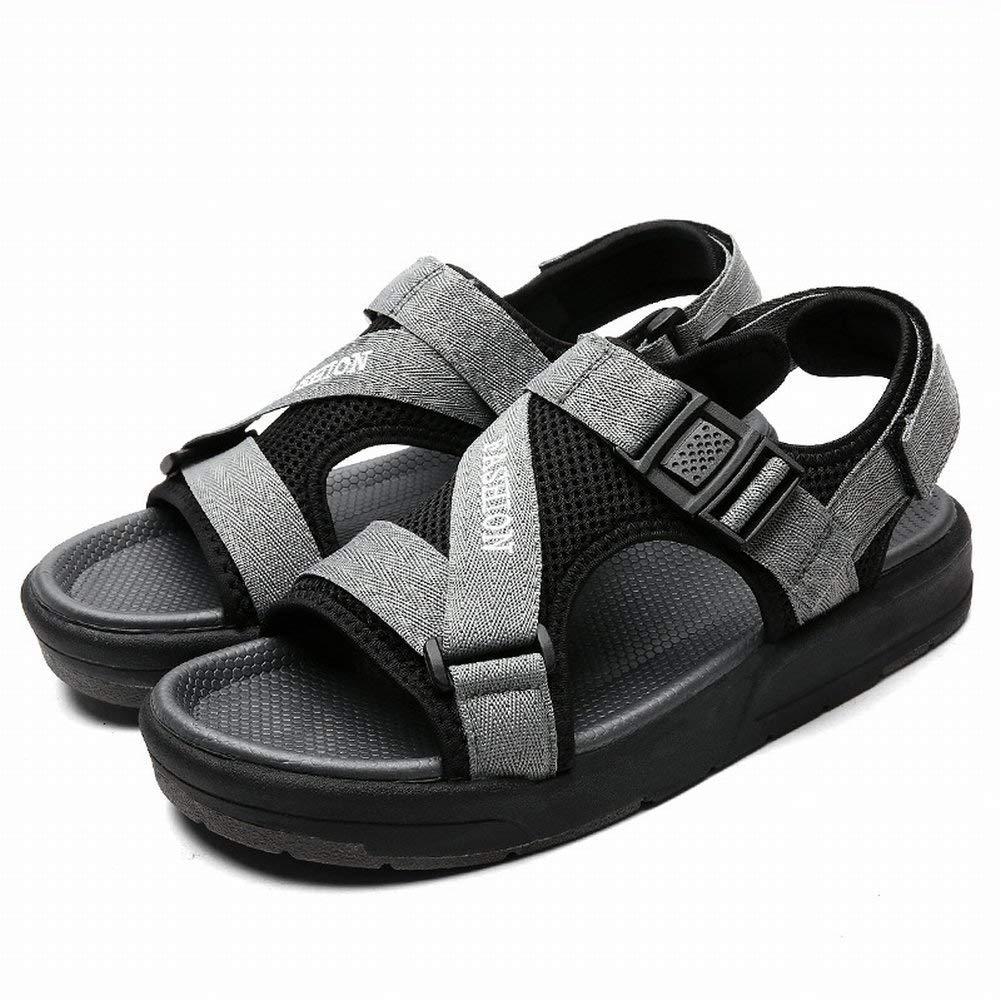 FuweiEncore Herren Sandalen Fashion Casual Outdoor Sports Beach Schuhe Breathable Herren Flut Schuhe (Farbe   Grau, Größe   43)