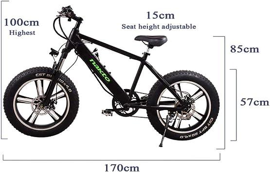 MERRYHE Bicicleta Eléctrica Desmontable 350W-48V-8Ah Li-batería Bicicleta Eléctrica Snow Bike 20 * 4.0 Mountain Bike MTB Citybike 6 Niveles Velocidad Pas Intelligent Electric Cycling,White-48V8AH: Amazon.es: Deportes y aire libre