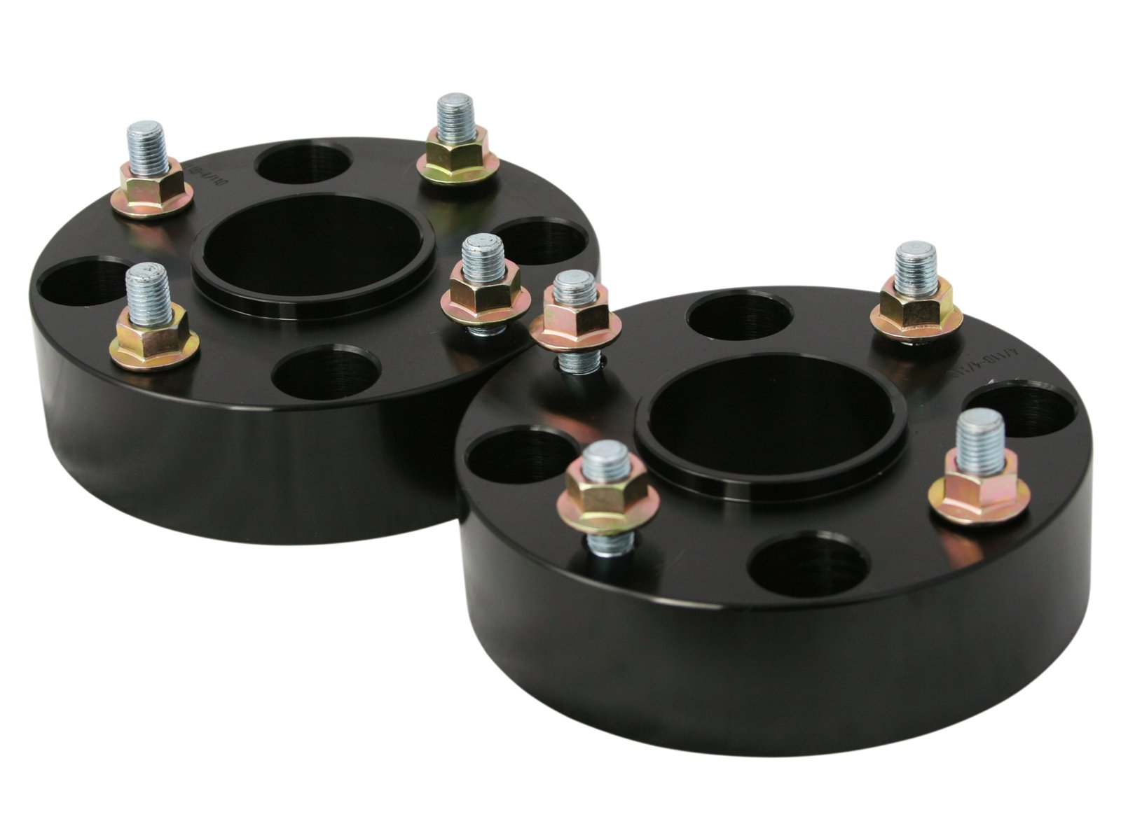 RockTrix for Precision European - 2pc Black 2'' Thick ATV 4x110 Wheel Spacers with 10x1.25 Studs Nuts for many Honda Yamaha Kawasaki Suzuki (Verify Specific Year/Make/Model in Description) 4/110 UTV V1 by Precision European Motorwerks (Image #3)