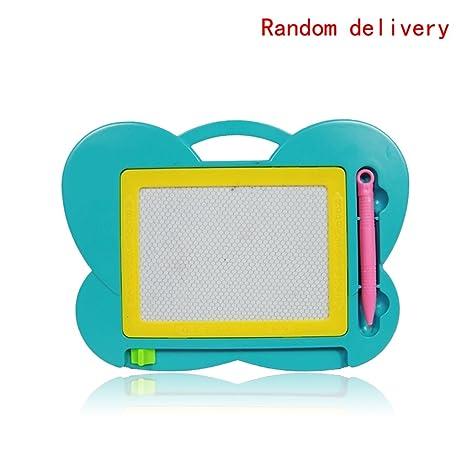 Bobury Tablero de escritura magnética tablero de dibujo de la pizarra de plástico educativo Doodle Tableta