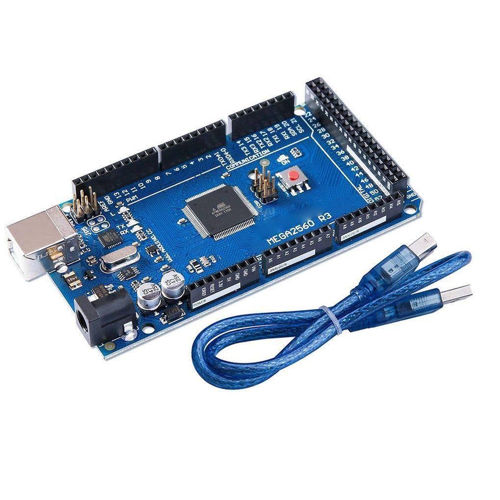 Yangge Yujum EL-CB-003 MEGA 2560 R3 Development Board ATmega2560 ATMEGA16U2 and USB Cable Compatible for Arduino