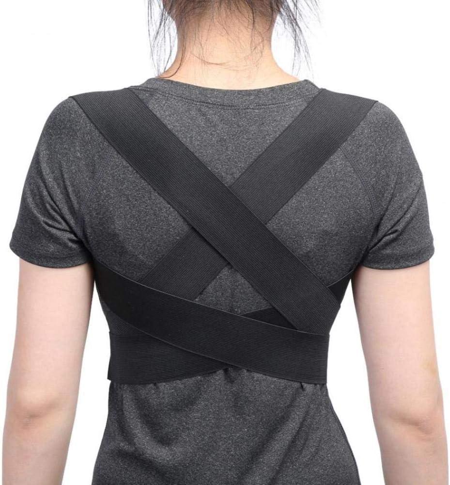 AdronQ Cinturón de Soporte ortopédico Corrector de Postura Ajustable en la Espalda Clavícula Columna Vertebral Hombro Trasero Correctores de corrección de la Postura Lumbar Cinturones de Soporte