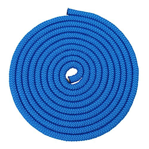 Nylon Rope Utility Rope (5/8 inch) - SGT KNOTS - Polypropylene Sheath - Moisture & Mildew Resistant - for Crafts, Cargo, Tie-Downs, Marine, Camping, Swings (100 ft - Royal Blue) by SGT KNOTS (Image #1)