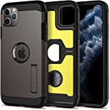 spigen iPhone 11 Pro Max Case,High protection PC Back with flexible TPU inside, with kickstand Gray