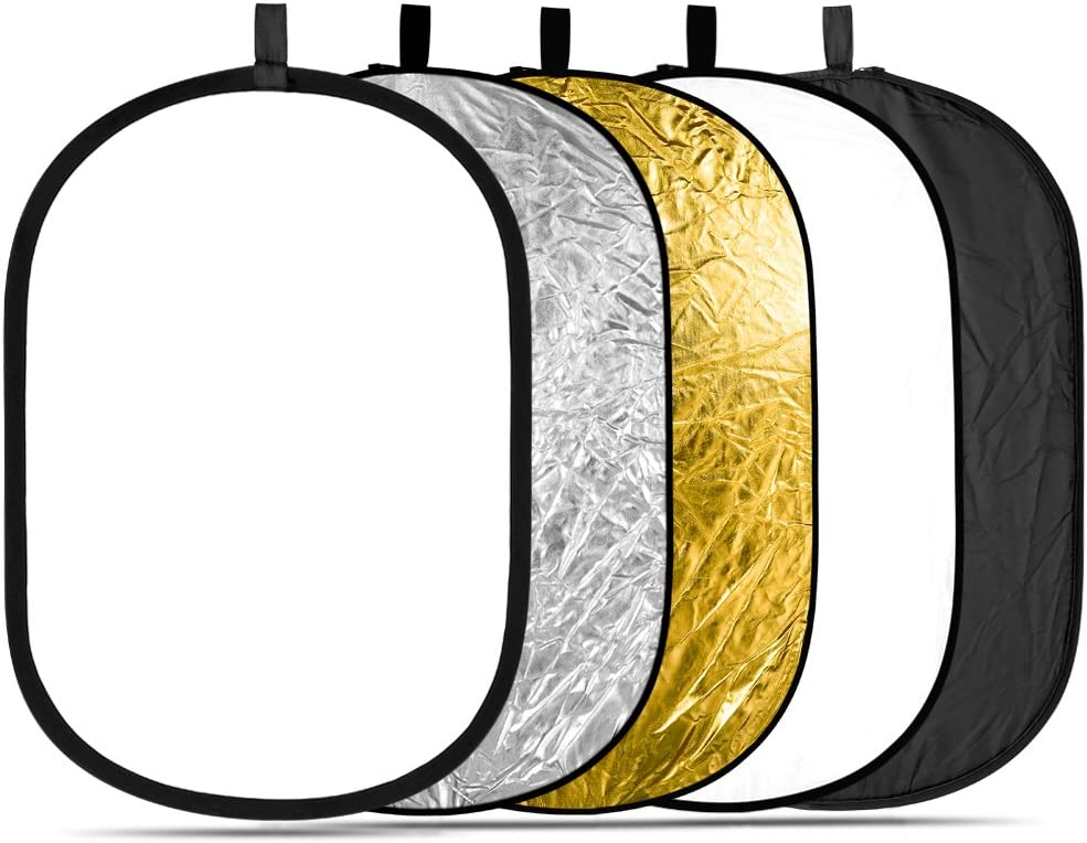 Neewer 5 en 1 Multi Portátil 100 x 150CM Reflector de Iluminación / Kit de Difusor con Funda para la Fotografía