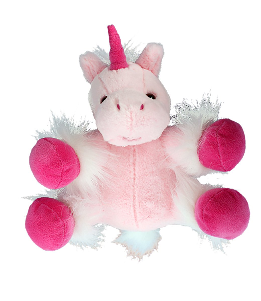 Recordable Stuffed 8 White Unicorn with 10 Second Digital Recorder