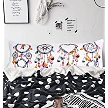 "Arightex Watercolor Dreamcatcher Body Pillowcase Girls Pillow Cases Boho Home Decorative Bed Pillow Covers with Zipper 20""x 54"" (1 Piece)"