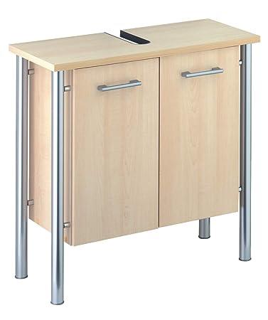 Sieper Werke 3042045 Waschbecken Unterschrank Biella Ahorn / Silber