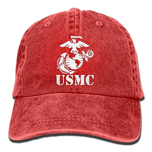 (Eagle Globe Anchor USMC Marine Corps Dad Hat Adjustable Denim Hat Classic Baseball Cap)