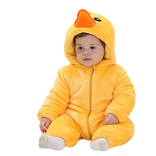 2d399f50084f Amazon.com  Yimidear Cute Baby Animal Onesie Pajamas Winter Flannel ...