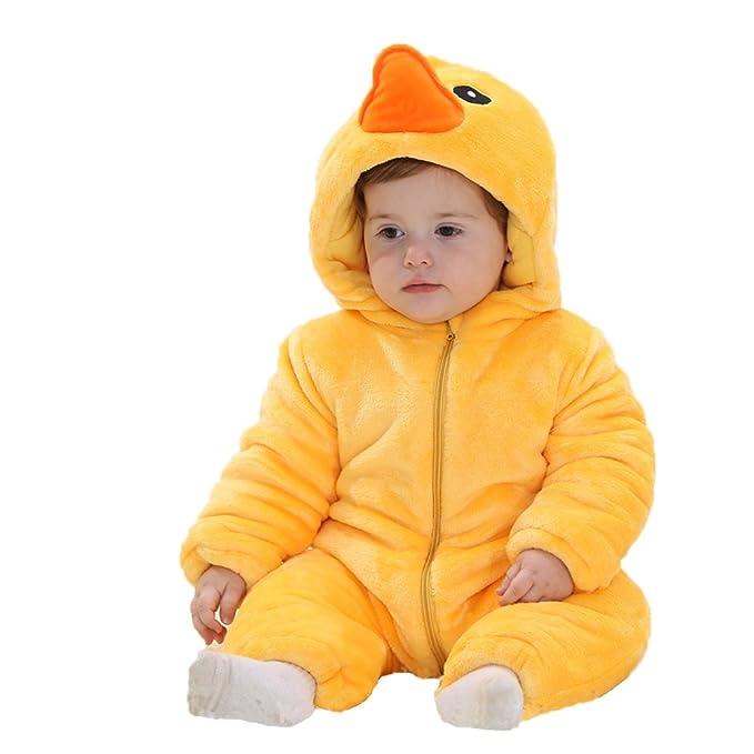 El bebé Adorable Unisexo Invierno pijama de franela Traje Cosplay Animales de Vestuario Mameluco Ropa de