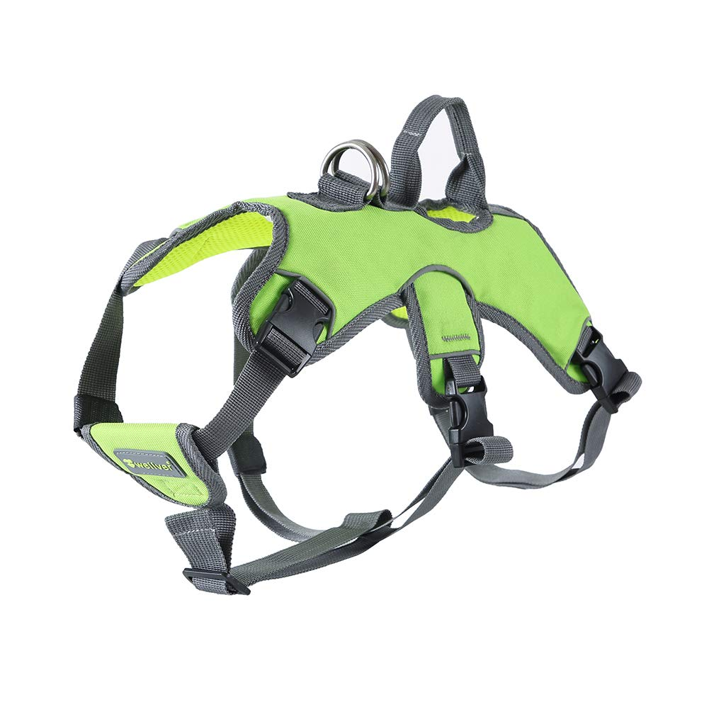Wellver Dog Harness No-Pull Pet Vest Harness with Handle for Medium Dogs,Green