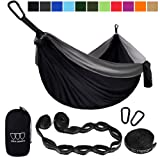 Amazon Price History for:Camping Hammock - XL Double Parachute Camping Hammock (2 TREE STRAPS 16 LOOPS/10 FT INCLUDED) Lightweight Nylon Portable Hammock, Best Parachute Double Hammock