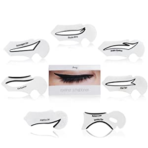 Amazy Eyeliner Stencils (Set Of 7) - Makeup Tool For Precise Eyeliner And Eyeshadow