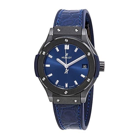 Hublot Classic Fusion - Reloj para Mujer, Esfera Azul, 581 cm, 7170.LR: Amazon.es: Relojes