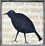 Sugarboo Designs Art Print AP126 Bird Silhouette, 26-Inch by 26-Inch by 2