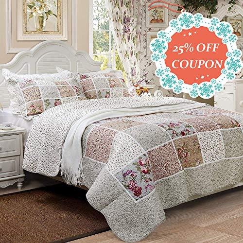 Brandream Queen Size Farmhouse Bedding Vintage Bedding Sets